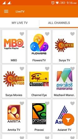 yupp tv channel list mini