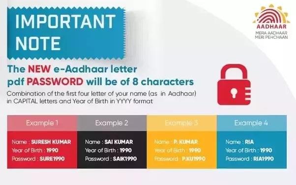 e-aadhaar-password
