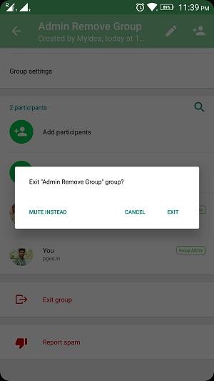 whatsapp group admin remove 6
