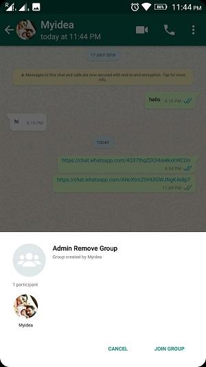 whatsapp group admin remove 7