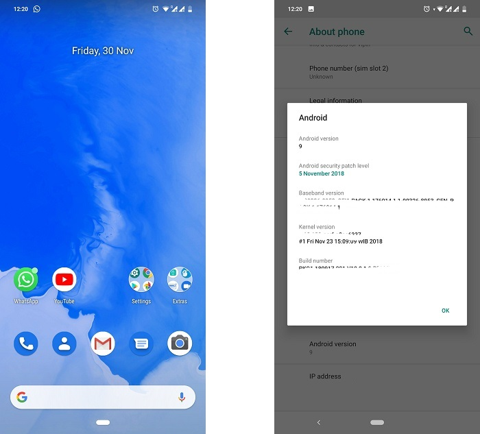 mi a2 lite android 9 pie screen 4