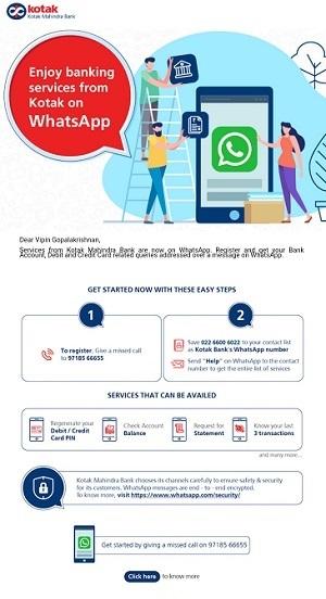 kotak mahindra whatsapp banking screen 1