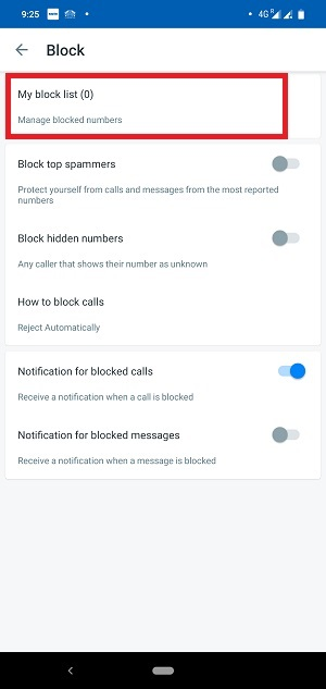 Truecaller call block 1