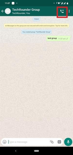 WhatsApp Group Call Button 1