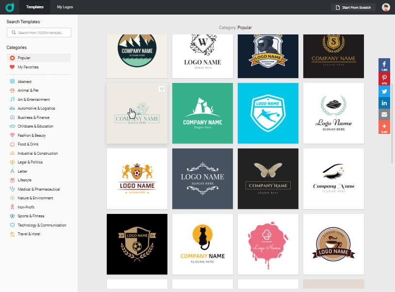 DesignEvo-Logo-Maker-Screen-1