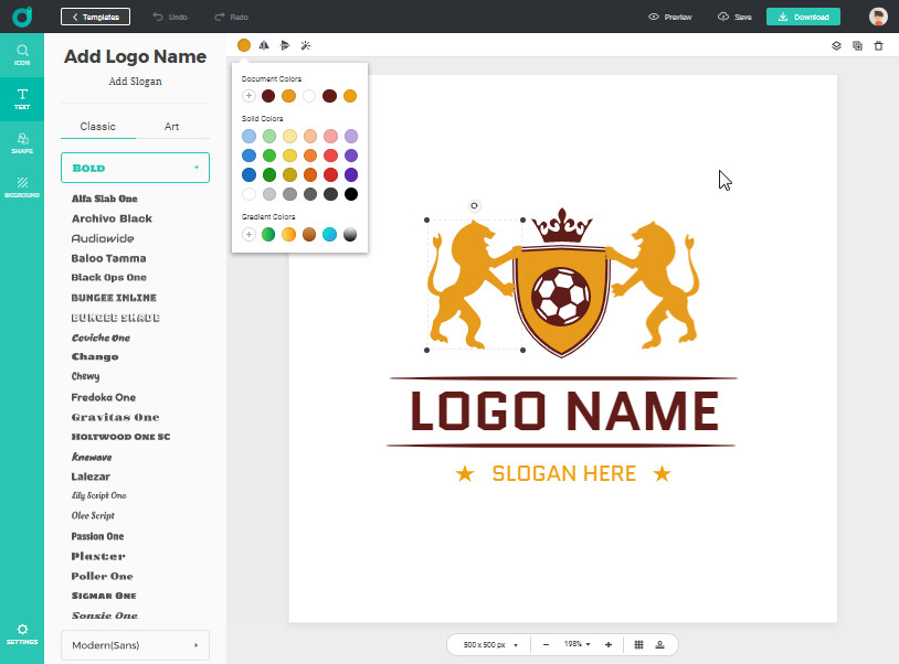 DesignEvo-Logo-Maker-Screen-2