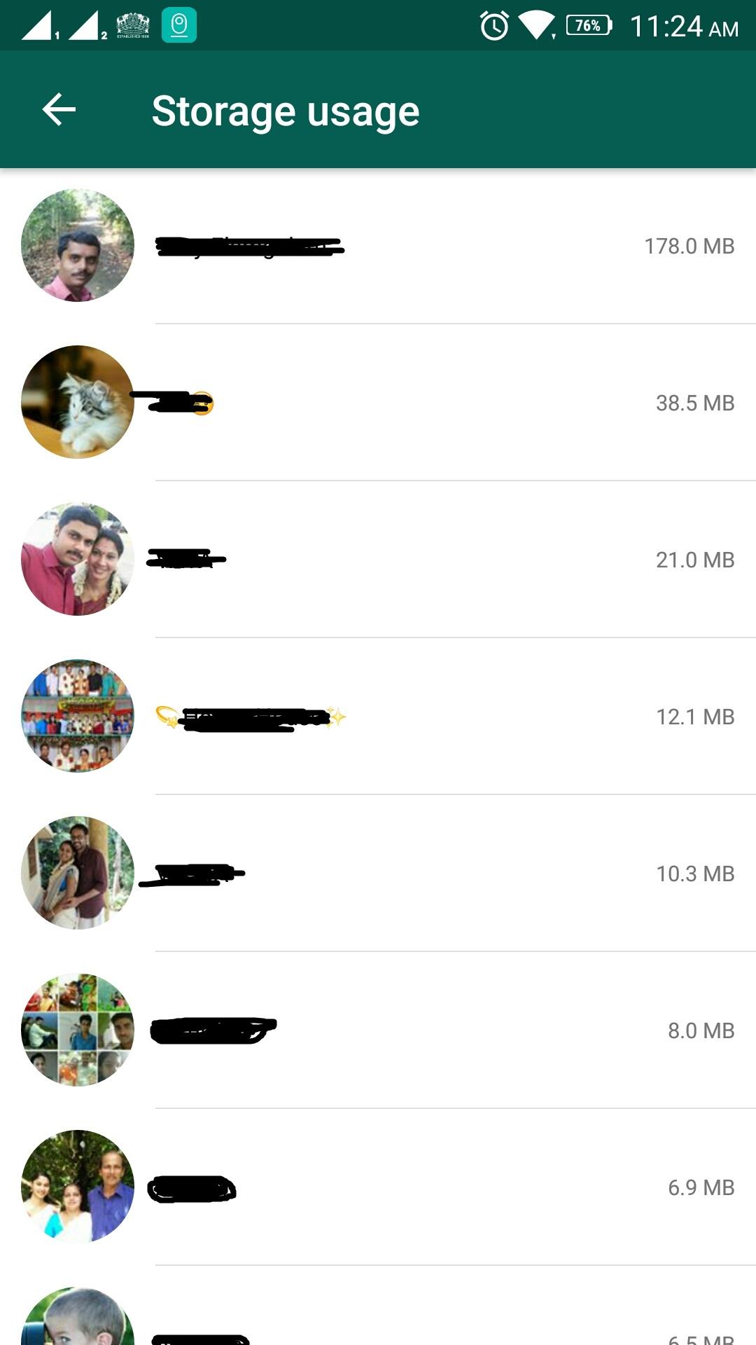 whatsapp clear chat data step 3