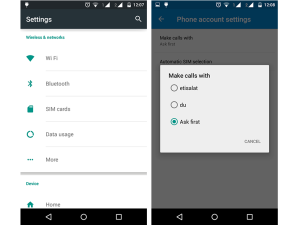 How to set default SIM selection for dual SIM Android Phone