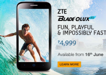 ZTE Blade Qlux 4G Launched in India at a Price of Rs. 4,999