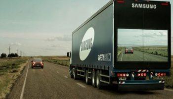 "Samsung's new ""see-through"" Safety Trucks – Video"