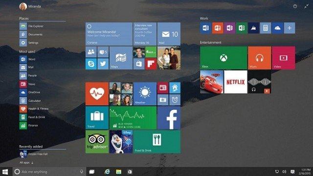 microsoft windows 10 rollout screen