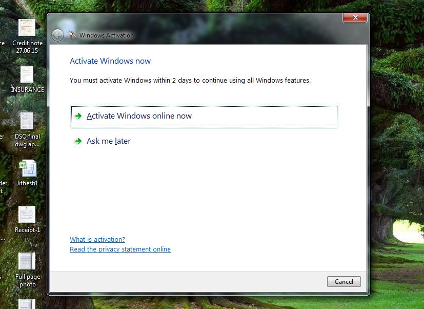 windows activation alert