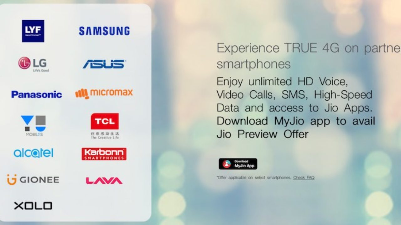 Reliance Jio Offer Extended to 4 More Smartphone Companies | TechRounder