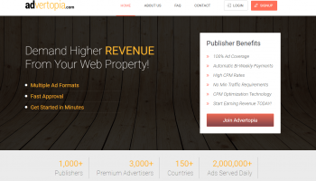 Advertopia Review – Best Google Adsence Alternative for New Website