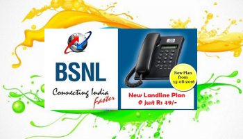 BSNL Landline Promotional Offer with Monthly Rental of Rs. 49 Only