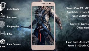 ChampOne C1 will be Available for Flash Sale for Rs. 501