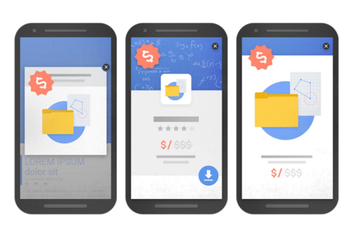 google will downgrade popup ads