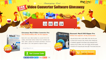 Thanksgiving Gift – Get Free MacX Video Converter Pro as Giveaway