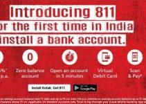 Get Free Instant International Virtual Debit Card From Kotak 811