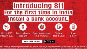 Get Free Instant International Virtual Debit Card From Kotak 811