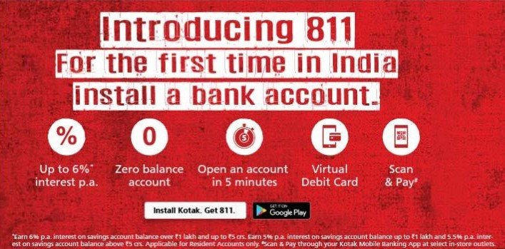 Get Free Instant International Debit Card From Kotak 811