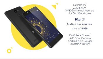 10.or D With 5.3 Inch Display and 13 MP Camera Now available in India at a Price of Rs. 4,999