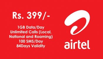 Airtel Revised Rs. 399 Plan With 1GB Data Daily and 100 SMS/Day For 84 Days