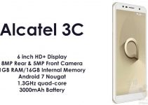 Alcatel 3C With 6-Inch Display and 3000mAh Battery Launched