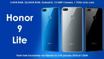 Honor 9 Lite With Quad Cameras Launched in India With Price From Rs. 10,999