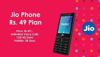 Jio's New Rs. 49 Plan For Jio Phone Users with Unlimited Call and 1GB Data For 28 Days