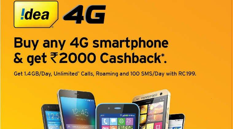 idea 4g-smartphone-cashback-offer