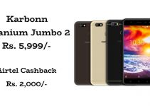 Karbonn Titanium Jumbo 2 With 13MP Camera and 4000mAh Battery Launched