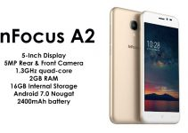 InFocus A2 With 2GB RAM and 5MP Camera Launched in India at a Price of Rs. 5,199