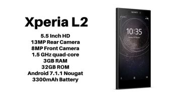 Sony Xperia L2 with 13 MP Camera and 5.5-inch HD Display Launched in India at Rs. 19,990