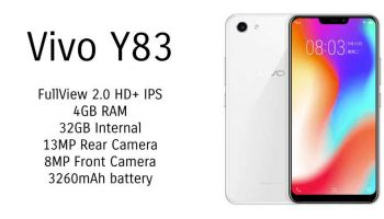 Vivo Y83 With 6.22-inch FullView Display and 4GB RAM Launched in India