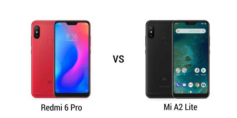 redmi-6-pro-vs-mi-a2-lite