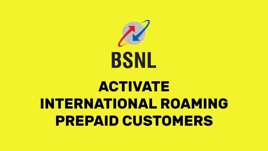BSNL International Roaming Prepaid Number