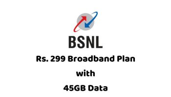 BSNL Introduced Rs.299 Broadband Plan With 45GB Data for 30 Days