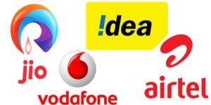 Idea Jio Airtel Vodafone