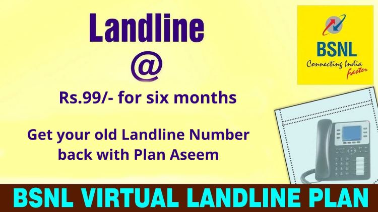 BSNL Virtual Landline with Plan Aseem