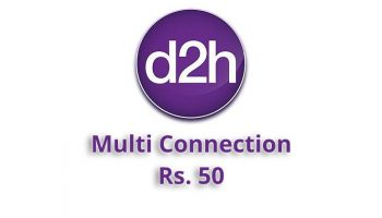 D2H Reduced the Multi Connection Charge to Rs. 50
