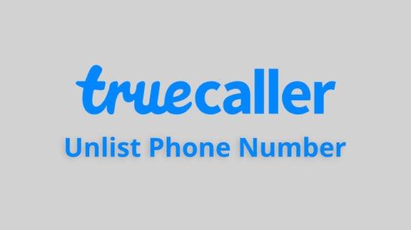 truecaller unlist number