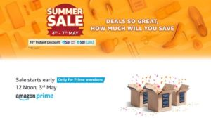 Amazon Summer Sale 4th - 7th May 2019