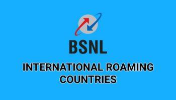 BSNL International Roaming Countries List