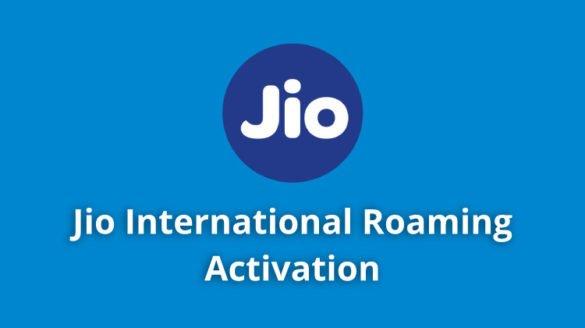 Jio International Roaming Activation