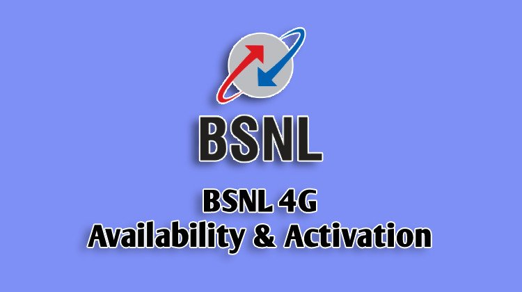 bsnl 4g activation and availability