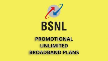 Promotional Unlimited BSNL Broadband Plans April 2019