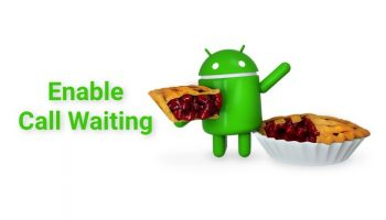 Activate Call Waiting on Android 9 Pie Mobile