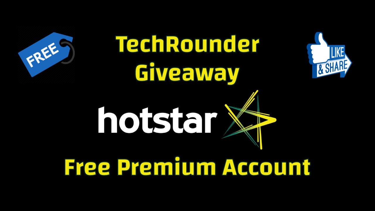 Giveaway - Free Hotstar Premium Account For One Year