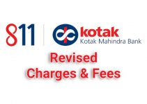 Revised Kotak 811 Charges and Fees Effective From May 1st 2019